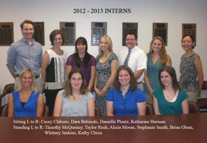 2012-2013 Intern Cohort