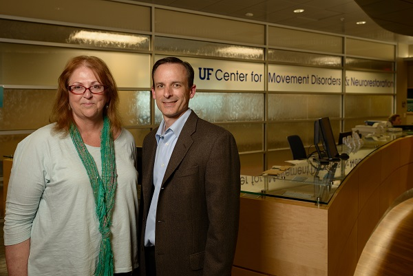 Dawn Bowers, David Vaillancourt, training grant directors. UF has received a $1 million NIH grant to establish a doctoral training program for students who are interested in careers in movement disorders research.
